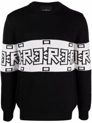 Logo-print knitted jumper John Richmond. Цвет: черный