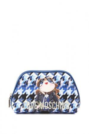 Косметичка Love Moschino. Цвет: синий