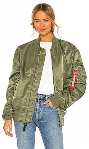 Куртка l-2b ALPHA INDUSTRIES. Цвет: серовато-зеленый