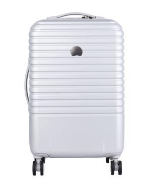 Чемодан/сумка на колесиках DELSEY. Цвет: светло-серый
