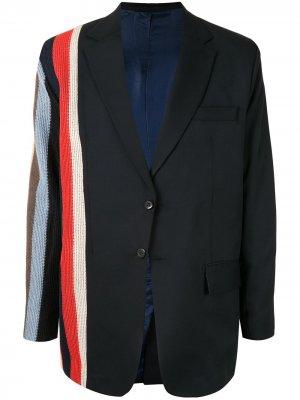 Пиджак в полоску Tokyo James. Цвет: черный