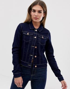 Джинсовая куртка Debra Noisy May. Цвет: темно-синий