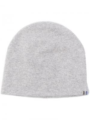 Вязаная шапка бини Extreme Cashmere. Цвет: серый