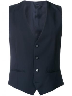 Классический жилет Versace. Цвет: синий