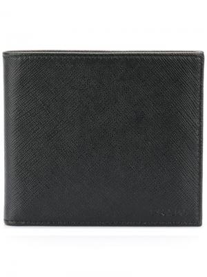 Классический бумажник Prada. Цвет: черный