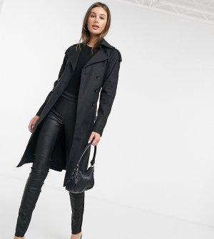 Тренч -Черный Fashion Union Tall