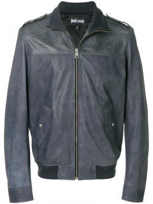 Куртка-бомбер с тисненой отделкой Just Cavalli. Цвет: серый