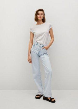 Прямые джинсы с завышенной талией - Kaia Mango. Цвет: светло-синий