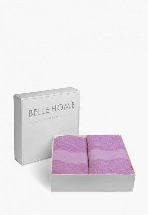 Набор полотенец Bellehome Виолетта. Цвет: фиолетовый