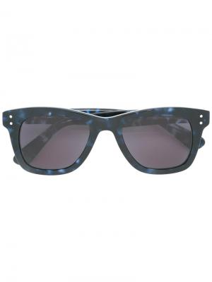 Солнцезащитные очки в квадратной оправе Komono. Цвет: синий