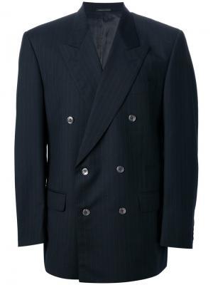 Свободный пиджак в полоску Pierre Cardin Vintage. Цвет: синий