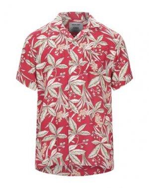 Pубашка ANERKJENDT. Цвет: красный