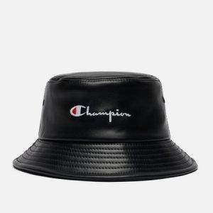 Панама Embroidered Script Logo Vegan Leather Bucket Champion Reverse Weave. Цвет: чёрный