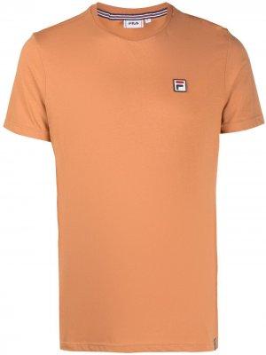 Футболка с нашивкой-логотипом Fila. Цвет: оранжевый