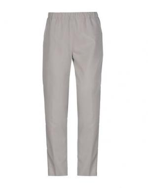 Повседневные брюки LABORATORIO. Цвет: серый