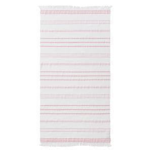 Полотенце пляжное Isparta LA REDOUTE INTERIEURS. Цвет: розовый,темно-синий