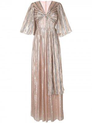 Длинное платье в полоску Peter Pilotto. Цвет: розовый