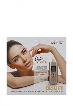 Массажер для лица Gezatone m708 Biolift Оборудование микротоковой терапии. Цвет: коричневый