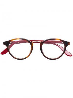 Contrast arm glasses Carrera. Цвет: коричневый