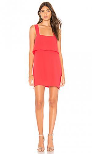 Платье anderson Amanda Uprichard. Цвет: красный