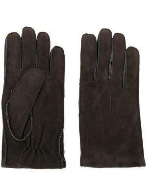 Фактурные перчатки Orciani. Цвет: серый