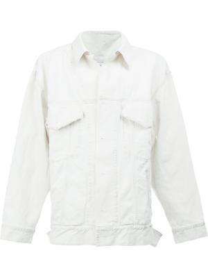 Джинсовая куртка с нагрудными карманами Faith Connexion. Цвет: белый