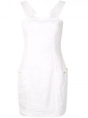 Платье-трапеция без рукавов Chanel Pre-Owned. Цвет: белый