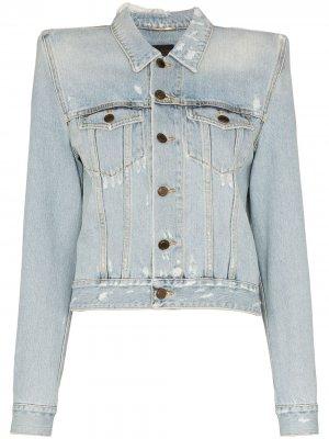 Джинсовая куртка с объемными плечами Saint Laurent