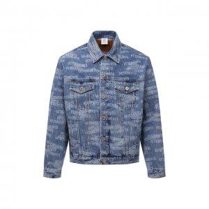 Джинсовая куртка VETEMENTS. Цвет: синий