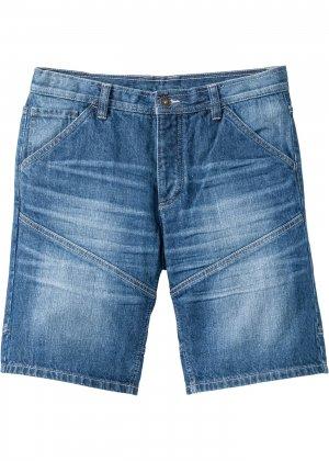Бермуды джинсовые bonprix. Цвет: синий