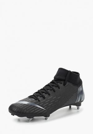 Бутсы Nike Superfly 6 Academy (SG-Pro) Soft-Ground Football Boot. Цвет: черный