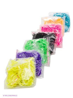 Большой комплект дополнительных резиночек №3 (7 цветов, 2100 шт.) Радужки