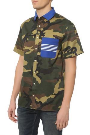 Рубашка с коротким рукавом Tommy Hilfiger. Цвет: 902 duffel bag, multi