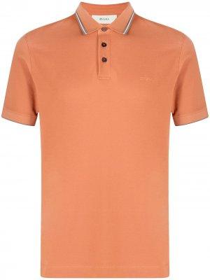 Рубашка поло с короткими рукавами Z Zegna. Цвет: оранжевый