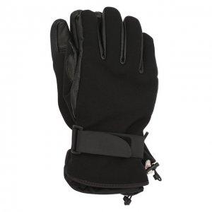 Комбинированные перчатки Moncler Grenoble. Цвет: чёрный