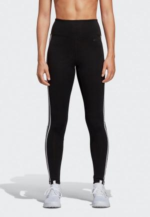 Тайтсы adidas W D2M 3S HR LT. Цвет: черный