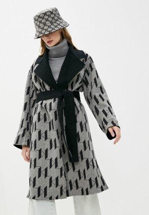 Пальто Karl Lagerfeld. Цвет: разноцветный