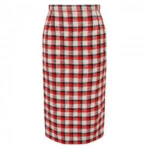 Хлопковая юбка N21. Цвет: красный