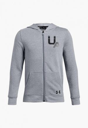 Толстовка Under Armour Rival Logo Full Zip. Цвет: серый