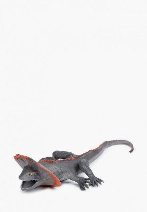 Игрушка Играем Вместе «Плащеносная ящерица». Цвет: серый
