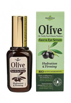 Сыворотка для лица HerbOlive Увлажняющая и чувствительной кожи вокруг глаз, 30 мл