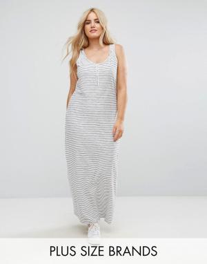 Длинное платье-майка Junarose. Цвет: мульти