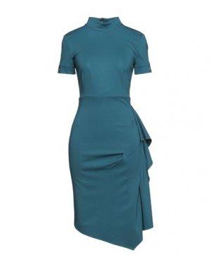 Платье до колена BABYLON. Цвет: цвет морской волны