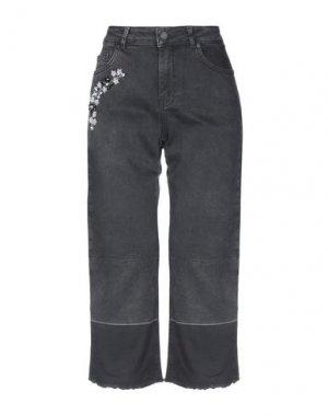 Джинсовые брюки-капри SILVIAN HEACH. Цвет: черный
