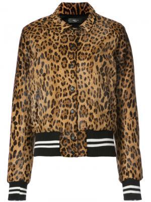 Leopard bomber jacket Amiri. Цвет: коричневый