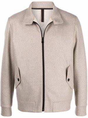 Кашемировая куртка с высоким воротником Harris Wharf London. Цвет: нейтральные цвета