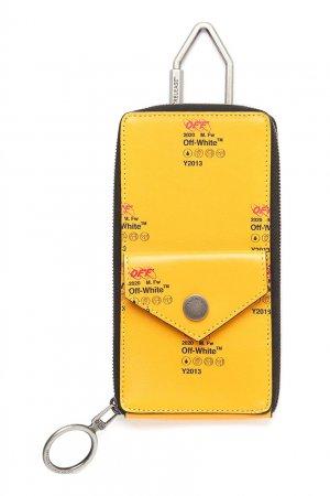 Желтый футляр для ключей Off-white. Цвет: желтый