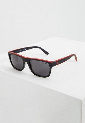 Очки солнцезащитные Polo Ralph Lauren PH4145 528487. Цвет: черный