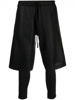 Многослойные брюки с кулиской Alchemy. Цвет: черный