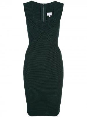 Приталенное короткое платье Milly. Цвет: зеленый